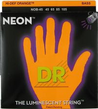 DR NOB-45 Neon medium bass guitar strings 45-105