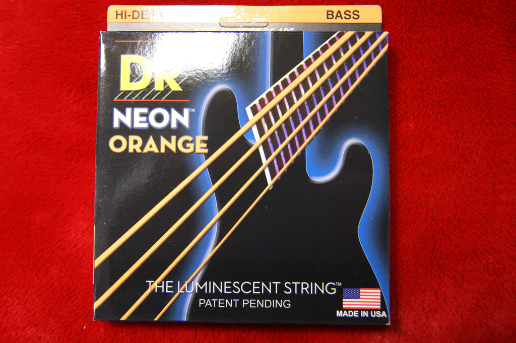 DR Neon NOB-45 orange bass guitar strings 45-105