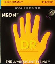 DR Neon NOE-9 Orange coated electric guitar strings 9-42
