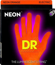 DR Neon NOE-10 orange coated electric guitar strings 10-46