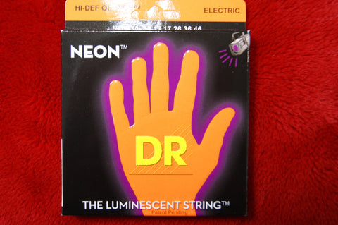 DR Neon NOE10 reflective orange electric guitar strings 10-46