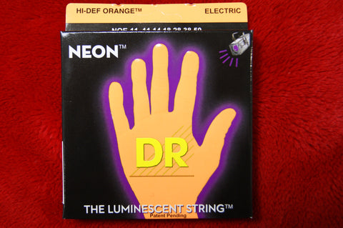 DR Neon NOE11 reflective orange electric guitar strings 11-50