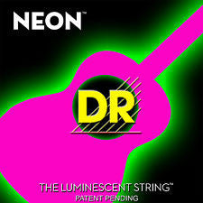 DR Neon NPA-11 pink coated acoustic guitar strings 11-50