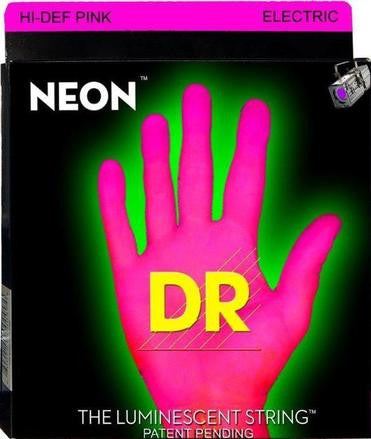DR Neon NPB-45 pink luminous bass guitar strings 45-105