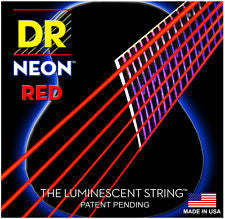DR Neon NRA-10 red coated acoustic guitar strings 10-48