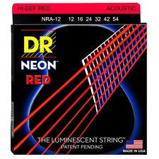 DR Neon NRA-12 red coated acoustic guitar strings 12-54
