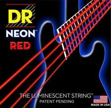 DR Neon NRB-45 red luminous medium bass guitar strings 45-105