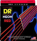 DR Neon NRE-9 red coated electric guitar strings 9-42 (3 PACKS)