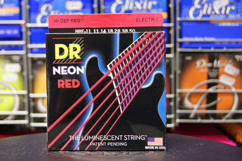 DR Neon NRE-11 red coated electric guitar strings 11-50
