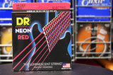 DR Neon NRE-9 red coated electric guitar strings 9-42