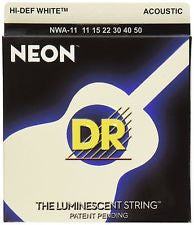 DR Neon NWA-11 white coated acoustic guitar strings 11-50