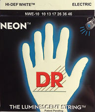 DR Neon NWE-10 white coated electric guitar strings 10-46