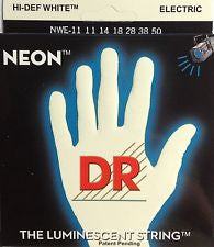 DR Neon NWE-11 white coated electric guitar strings 11-50