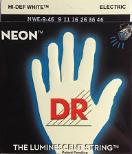 DR Neon NWE-9-46 White coated electric guitar strings 9-46