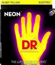 DR Neon NYE-9 Yellow coated electric guitar strings 9-42