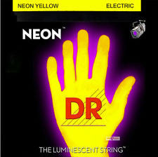 DR Neon NYE-10 yellow coated electric guitar strings 10-46