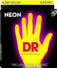 DR Neon NYE-946 Yellow coated electric guitar strings 9-46