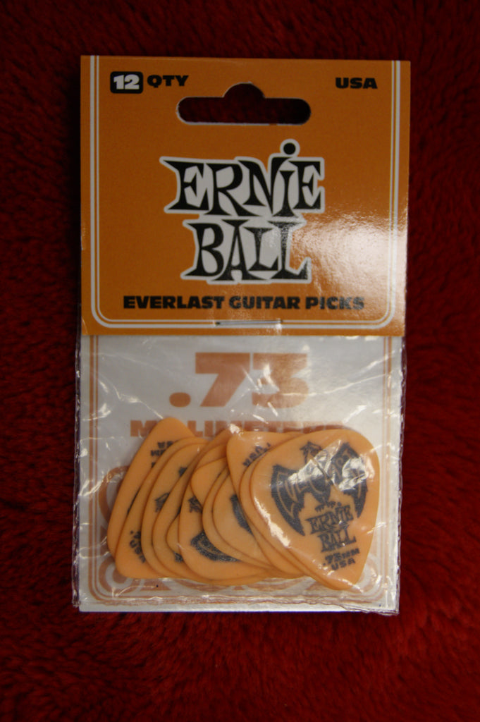 Ernie Ball Everlast .73mm delrin guitar picks - pack of 12