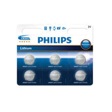 Philips lithium cell batteries for guitar and instrument tuners  (pack of 6)