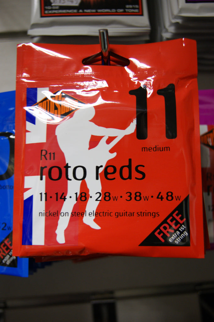 Rotosound R11 electric guitar strings 11-48 'reds'