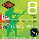 Rotosound R8 extra light electric guitar strings 8-38