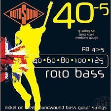 Rotosound RB40-5 Roto bass guitar 5 string set 40-125