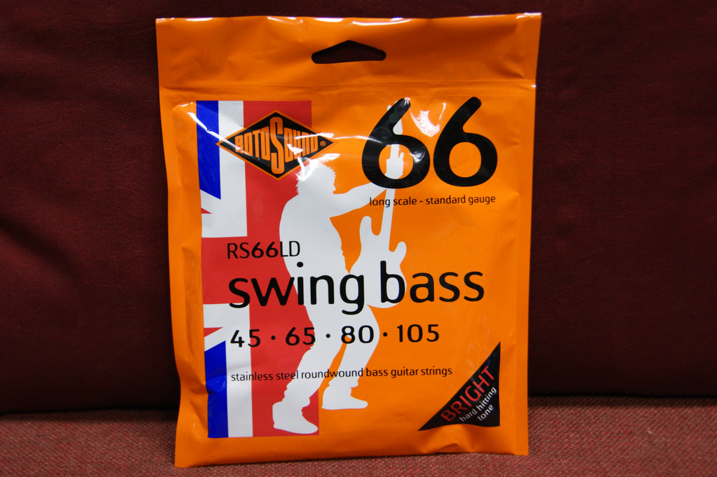 Rotosound RS 66LD swing bass guitar roundwound strings 45-105