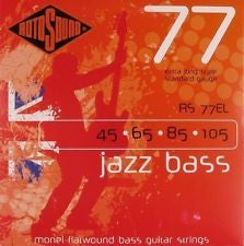 Rotosound RS 77EL Monel Flatwound Jazz Bass Guitar Strings 45-105