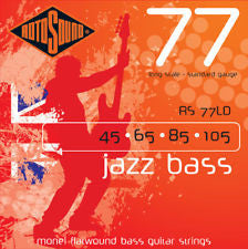 Rotosound RS 77LD monel flatwound jazz bass guitar strings 45-105