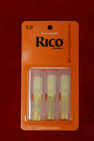 Rico reeds 3 for Bb clarinet triple pack