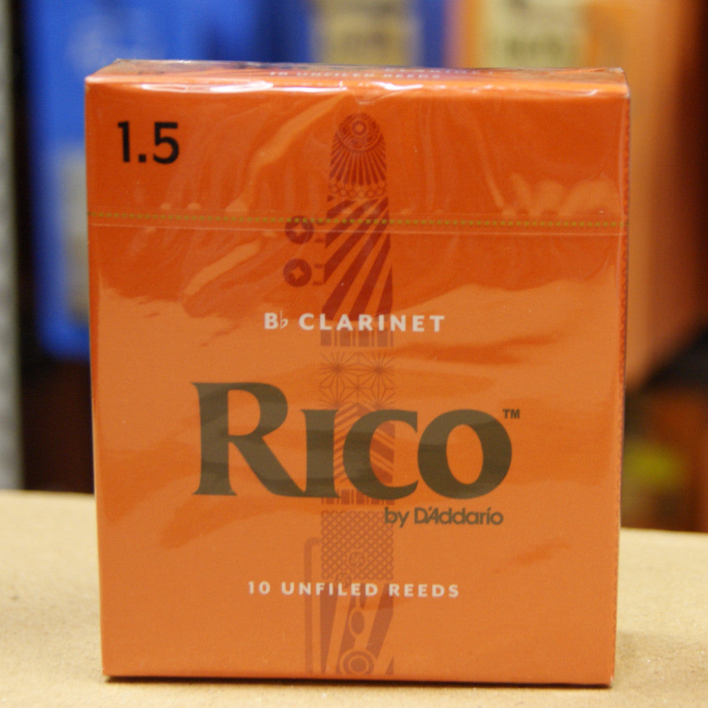 Rico Bb clarinet reeds 1.5 - box of 10