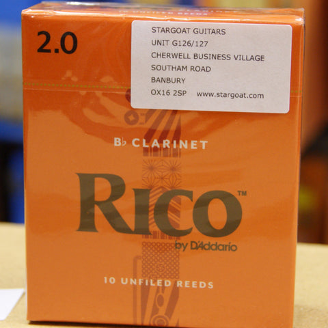 Rico Bb clarinet Reeds strength 2 - box of 10 reeds