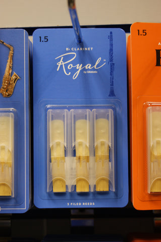 Rico Royal 1.5 Bb clarinet reeds (Pack of 3)