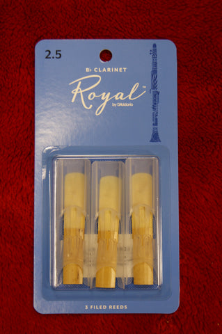 Rico Royal 2.5 Bb clarinet reeds (Pack of 3)