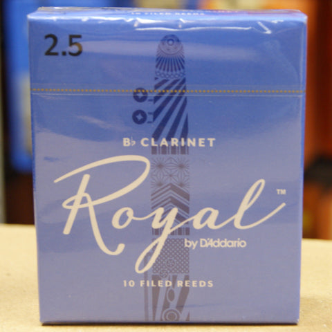 Rico Royal 2.5 Bb clarinet reeds (Box of 10)