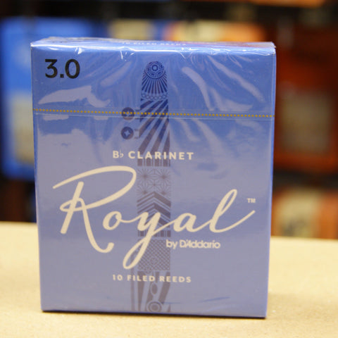 Rico Royal 3 Bb clarinet reeds (Box of 10)