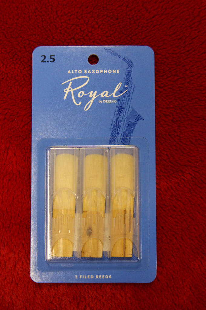 Rico Royal 2.5 alto sax reeds (PACK OF 3)