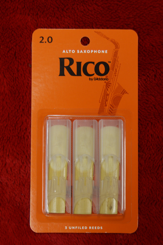 Rico reeds 2 for alto saxophone triple pack
