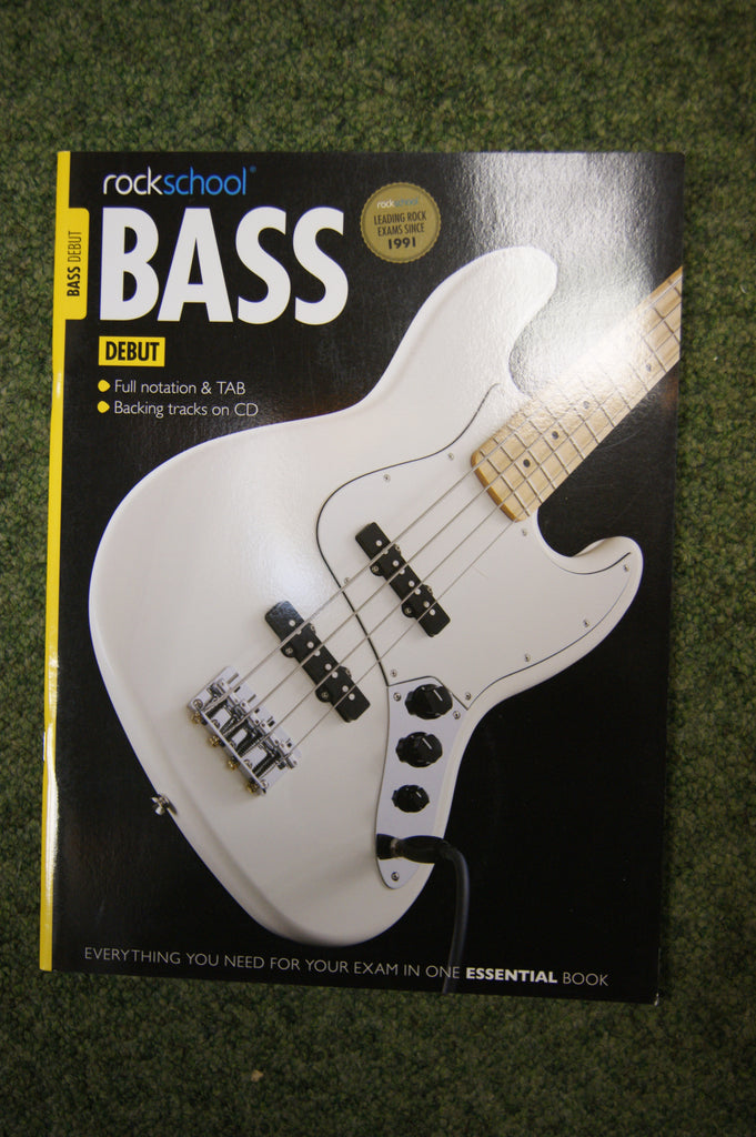 Rockschool Bass Debut exam book + CD