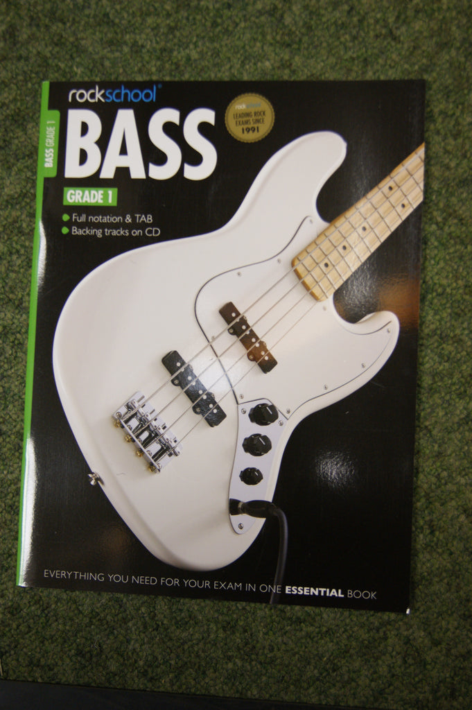 Rockschool Bass Grade 1 exam book + CD
