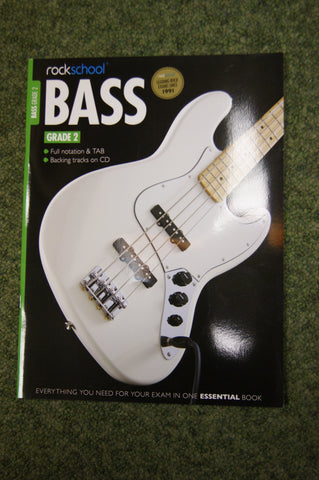Rockschool Bass Grade 2 exam book + CD