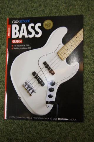 Rockschool Bass Grade 4 exam book + CD