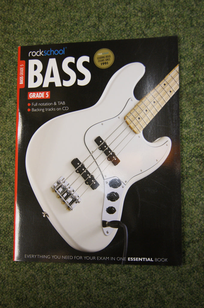 Rockschool Bass Grade 5 exam book + CD