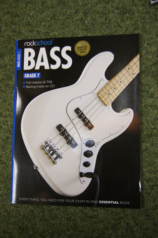 Rockschool Bass Gd 7 exam book + CD
