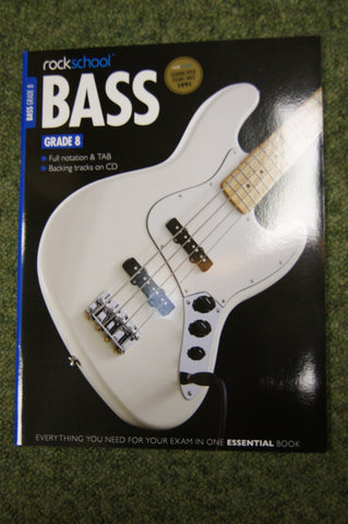 Rockschool Bass Grade 8 exam book + CD