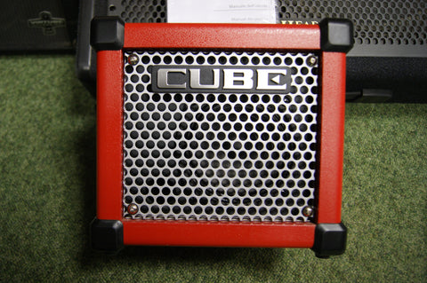 Korg Micro Cube GX battery/mains amplifier in red S/H