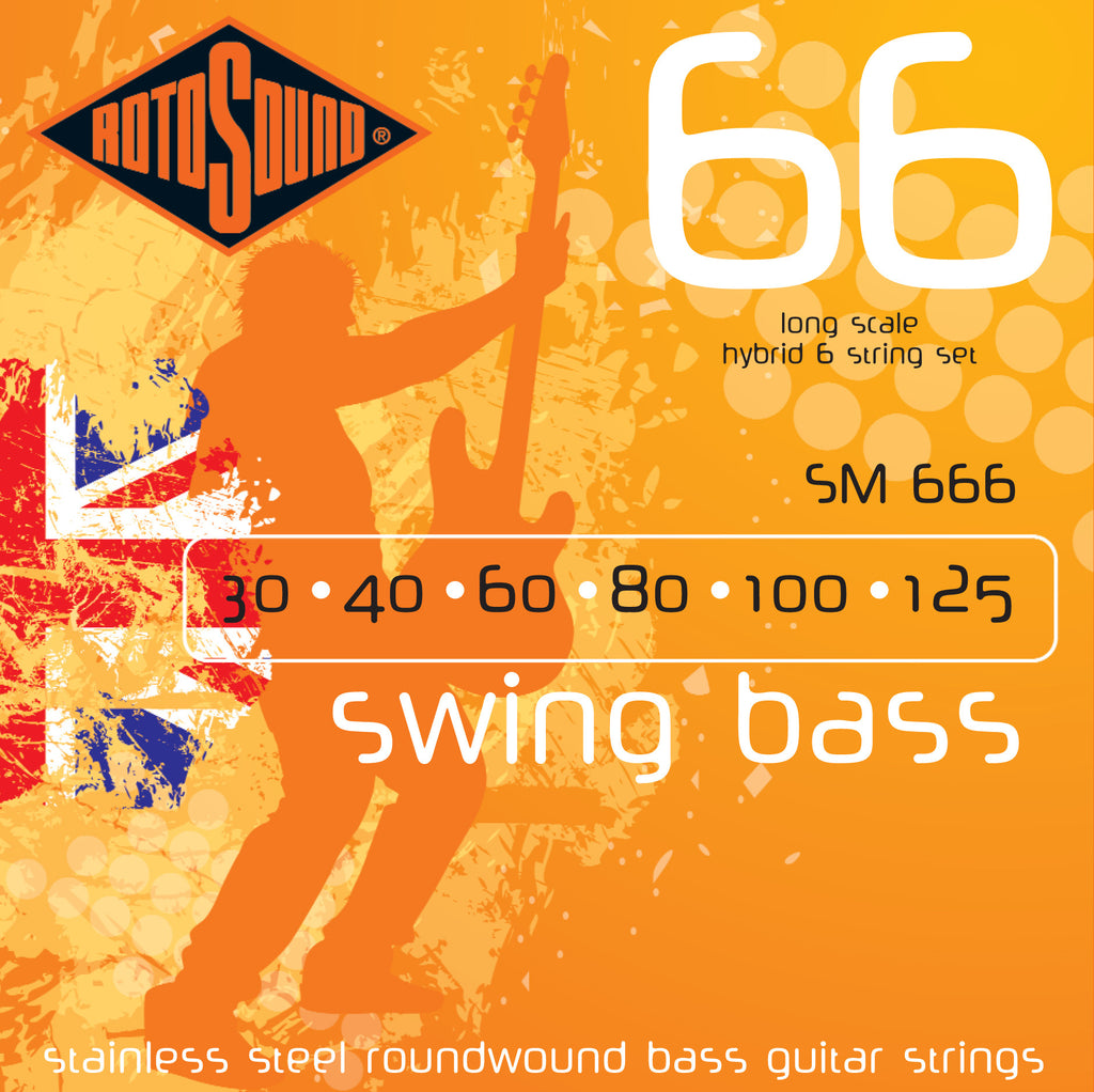 Rotosound SM666 swing bass guitar strings 30-125