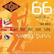 Rotosound SM 665 swing bass guitar 5 string hybrid set 40-125