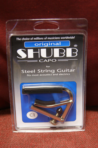 Shubb C1 Capo for 6 string electric or acoustic guitar