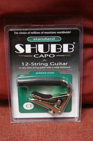 Shubb C3 capo for 12 string guitar